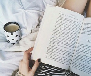 book, coffee, and relax image
