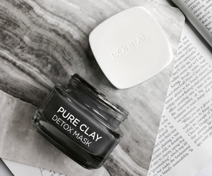 beauty, black and white, and face mask image