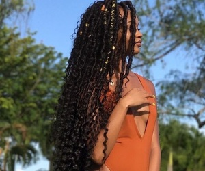 braids, hair, and black girls image