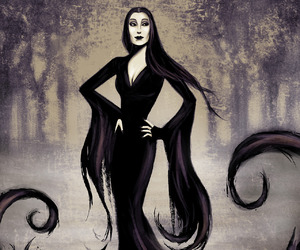 addams family and morticia image