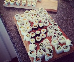 sushi, love, and girl image