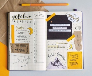 yellow, journal, and notebook image