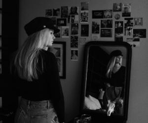 black&white, mirror, and sandro image