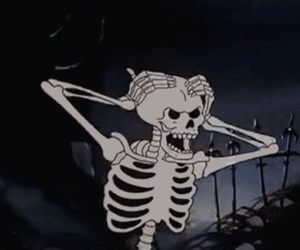 skeleton, Halloween, and aesthetic image