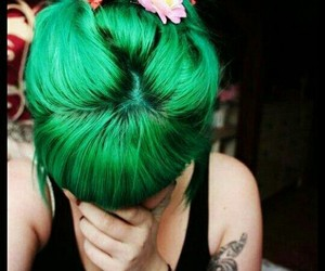 hair, hair style, and hair color image