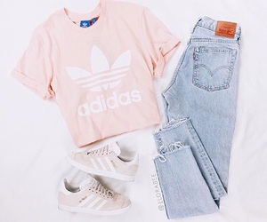 adidas, fahsion, and jeans image