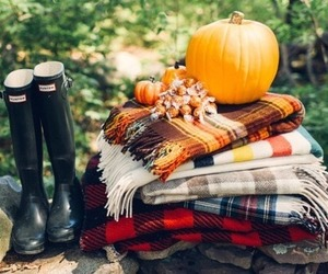 pumpkin, autumn, and boots image