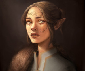 art, elven, and fantasy image