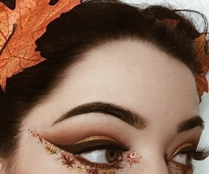 autumn, makeup, and fall image