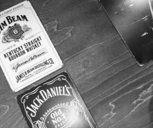 alcohol, brand, and blackandwhite image