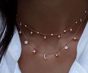 classy, necklaces, and stars image