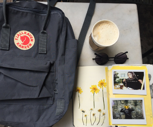 backpack, journal, and pale image