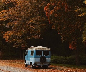 aesthetic, autumn, and bus image