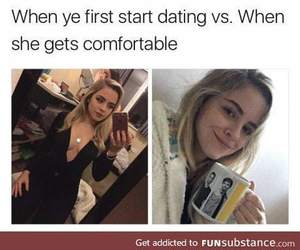 comfortable, start, and dating image