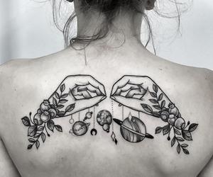 tattoo, art, and back image