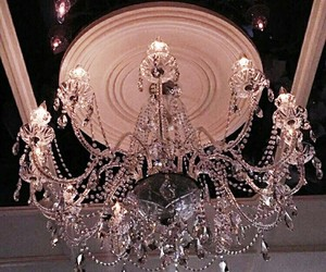 chandelier, theme, and dark image