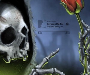 death, rose, and saywecanfly image