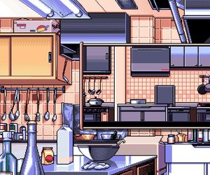 pixel and kitchen image