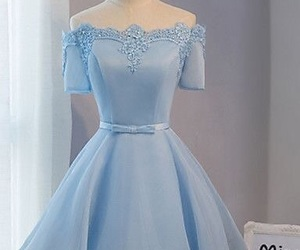 dress, blue homecoming dresses, and prom dresses image