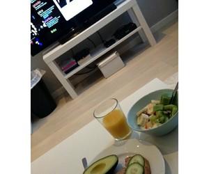avocado, tv, and bananas image