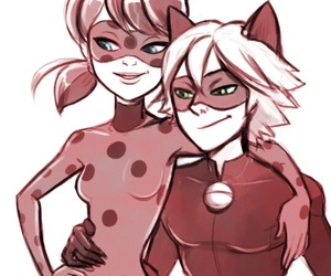 miraculous, ladynoir, and Adrien image