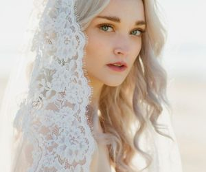 bride, pure, and wedding image