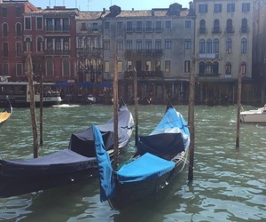 blue, boat, and venice image