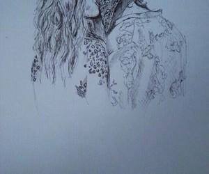drawing, kiss, and art image