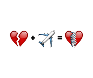 heart, airplane, and travel image