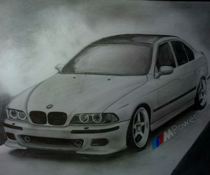 bmw, drawing, and drifting image