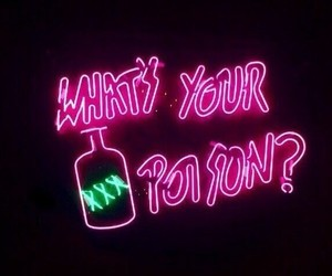 green, neon, and neon love image