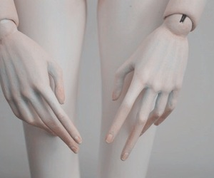 doll, hands, and pale image