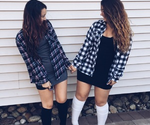 fall, flannels, and cute image