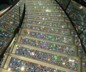 diamond, luxury, and stairs image