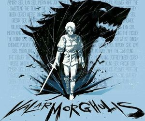 game of thrones, got, and valar morghulis image