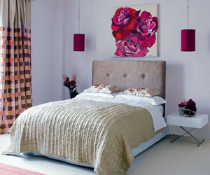 bedroom, decor, and pink image