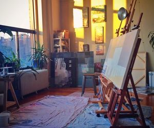 art, light, and painting image