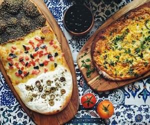 arabian, pizza, and breakfast image