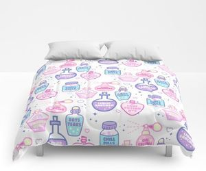 bedding, cute, and bedroom decor image