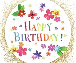 birthday card, bright, and butterflies image