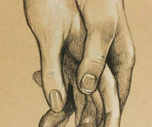 holding hands drawing image