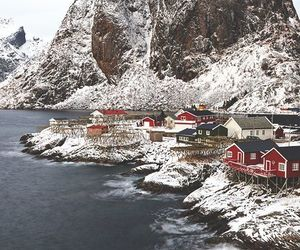 snow, mountains, and norway image