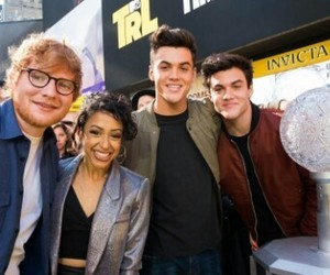 grayson dolan, ethan dolan, and ed sheeran image