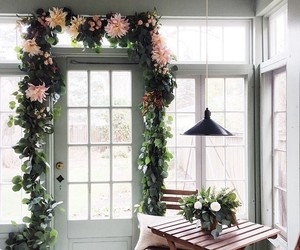 flowers, home, and house image