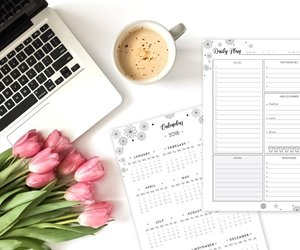 planner, workspace, and calendar image