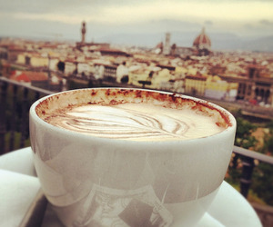 coffee, city, and cappuccino image