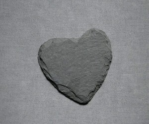 aesthetic, gray, and heart image