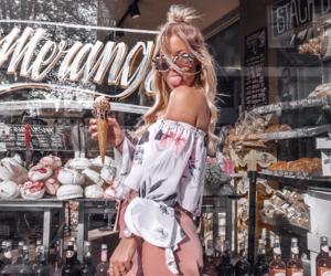 fashion, girl, and ice image