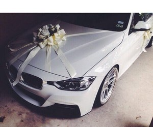 car, bmw, and white image