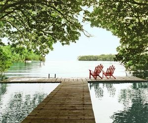 chairs, relax, and lake image